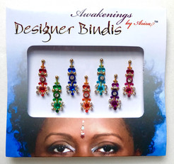 Tribal Multi Color Bindi, Face Jewel, Chakra Key