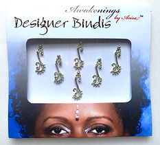 Awakenings By Aziza Disigner Bindi Silver Hook
