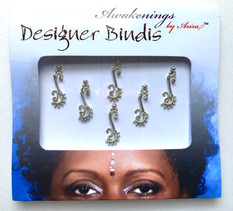 Awakenings By Aziza Disigner Bindi Silver Hook