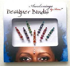 Awakenings By Aziza Designer Bindi Heart Drops