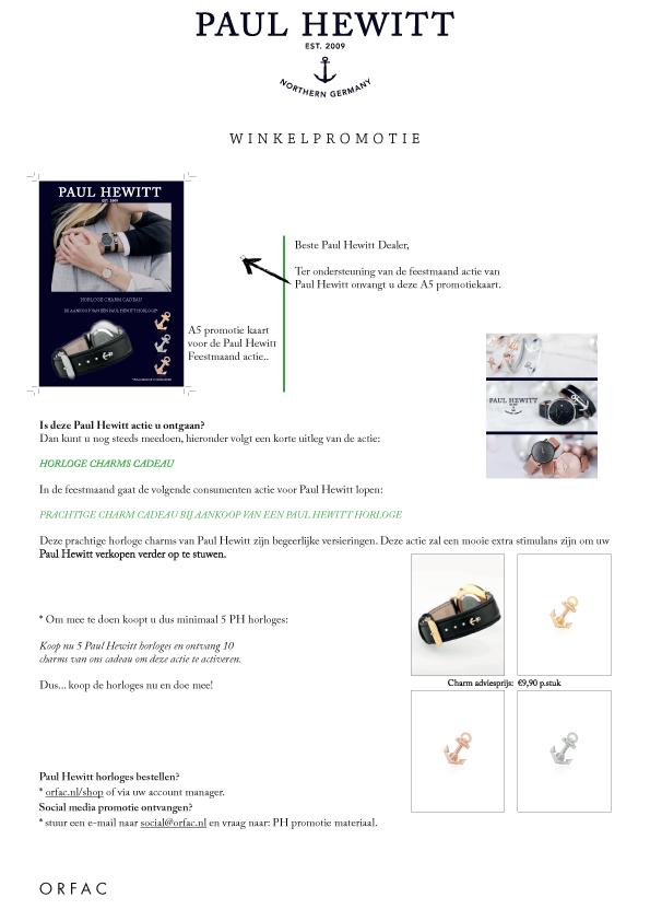 Shop promotie brief