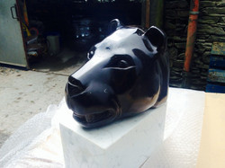 Black Panther by Shawn Williams on a Marble Base