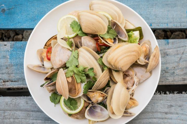 Tua Tua Clams with White Miso, Chilli & Ginger