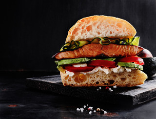 Salmon Sandwich with Lemon Mayonnaise