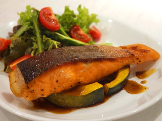 Pan Fried Crispy Skin Salmon Fillet