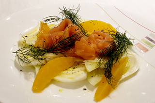Fennel Salad with Smoked Salmon and Orange Vinaigrette