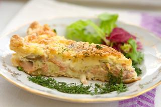 Cheesy Salmon Pie
