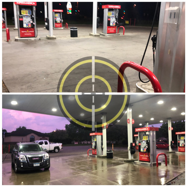 Before and After Gas Station