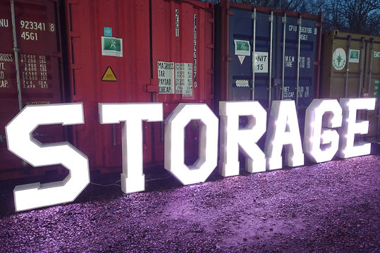 colourful shipping storage containers