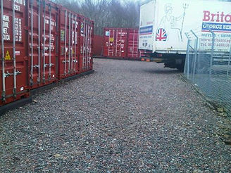 lorry at shipping container