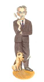 James Thurber & Dog