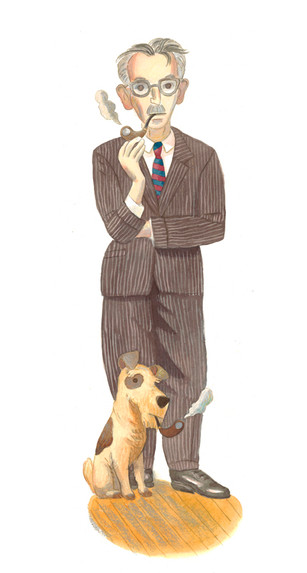James Thurber & Dog