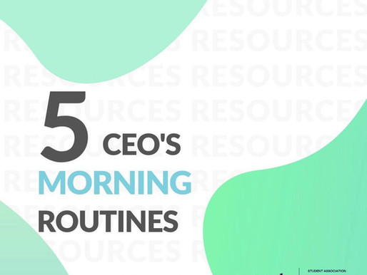 5 CEO'S MORNING ROUTINES