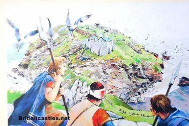 остров Тинтаджел активно использовался в раннем Средневековье