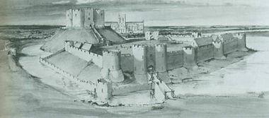 средневековый замок, Йорк, Йоркшир