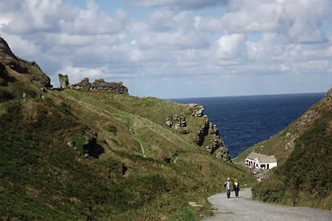 Дорога в замок Тинтаджел