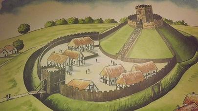 Макет Честерского замка, построенного Вильгельмом Завоевателем