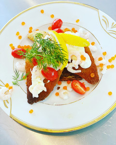 De Luxe Smørrebrød med Fiske Filet & Rejer