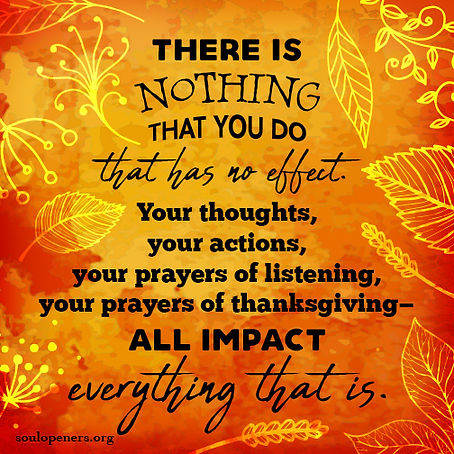Everything impacts everything.