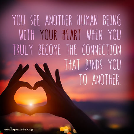 Seeing with your heart.