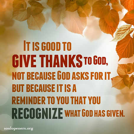 Give thanks as recognition.