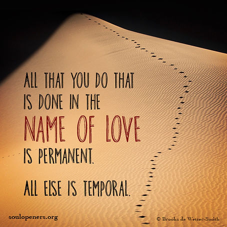 Love is permanent.