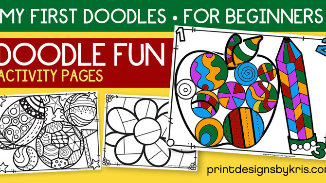 Doodle Activity Pages for Beginners