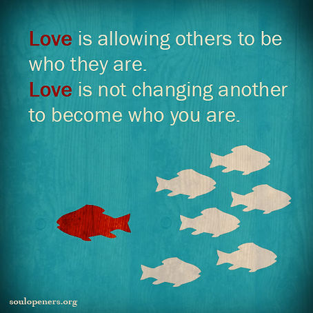Allowing others to be.