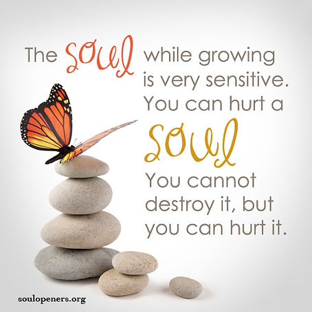 Soul can be hurt.