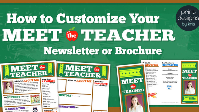 How to Customize Your Meet the Teacher Handout for Back to School Night