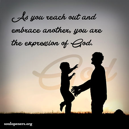 Being an expression of God.