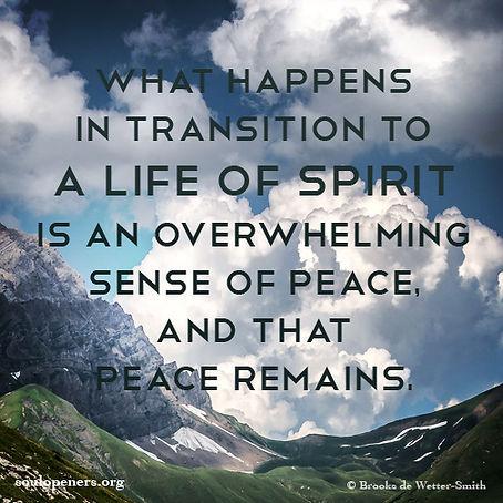 Transition to spirit life.