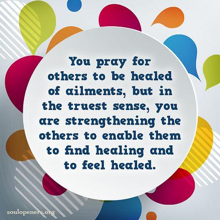 Praying for healing.