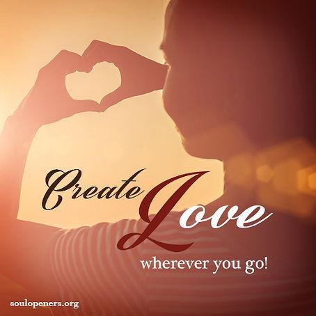Create love.