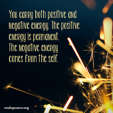 Positive and negative energy.