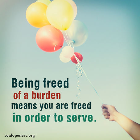 Freed to serve.