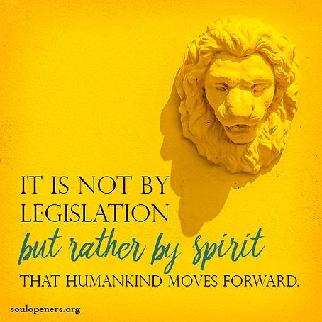 Spirit moves life forward.