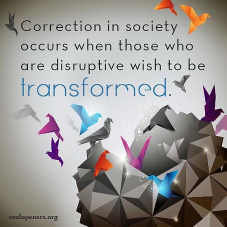 Correction in society.
