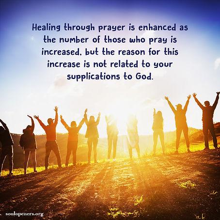 The power of corporate prayer.