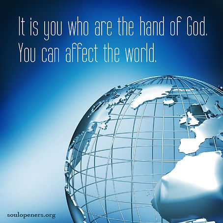 You are hand of God.