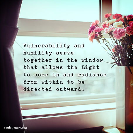 The role of vulnerability and humility.