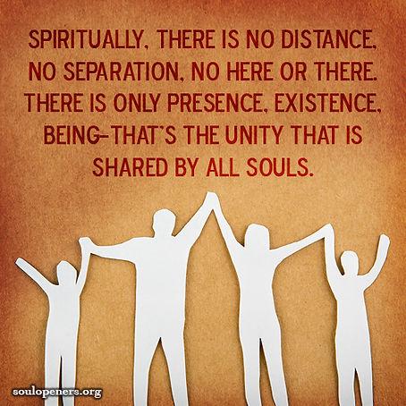The unity of souls.