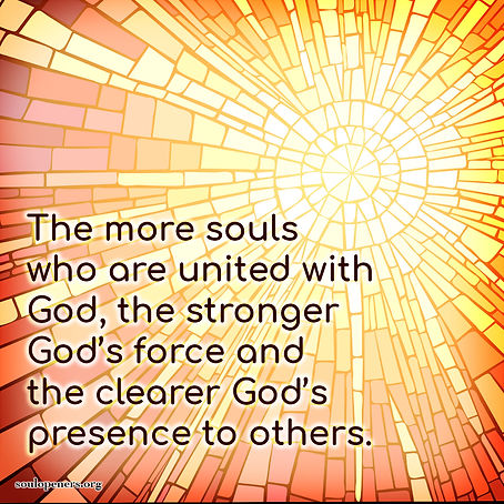 More souls united with God.