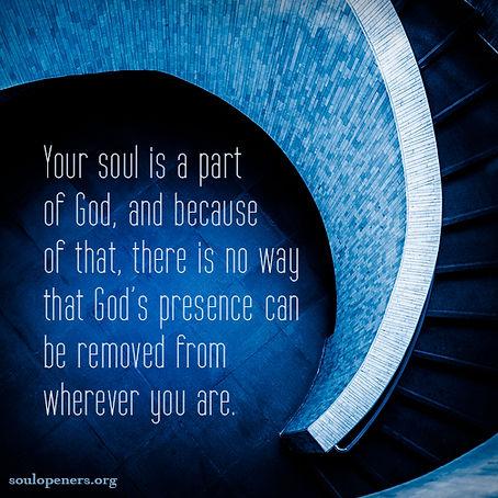 Soul is part of God.