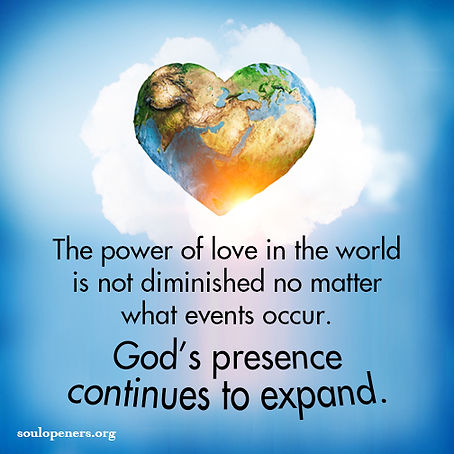 Love and God's presence expand.