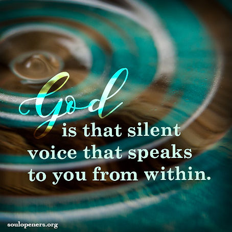 God speaks from within.