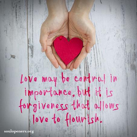 Forgiveness allows love.
