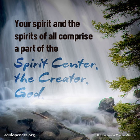 All spirits comprise part of God.