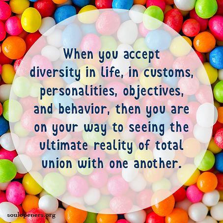 Accept diversity.