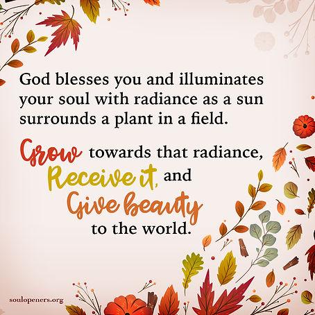 God's blessing like a sun.